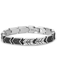 David Yurman - Chevron Link Bracelet With Black Diamonds - Lyst