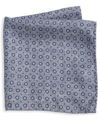 Saks Fifth Avenue - Collection Dot Medallion Pocket Square - Lyst
