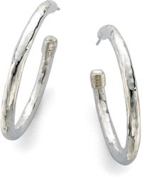 Ippolita - Glamazon Sterling Silver #3 Hoop Earrings/1.75 - Lyst