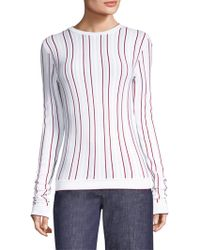 Derek Lam - Striped Slim Pullover Jumper - Lyst