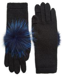 Eugenia Kim - Sloane Fox Fur Pom-pom & Cashmere Gloves - Lyst