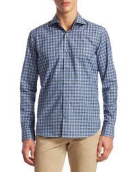 Saks Fifth Avenue - Collection Classic Sport Fit Tonal Plaid Button-down Shirt - Lyst