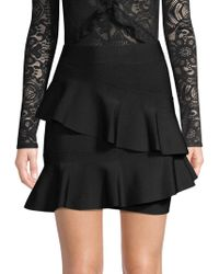 BCBGMAXAZRIA - Knit Ruffle Skirt - Lyst