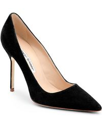 Manolo Blahnik - Bb 105 Suede Point Toe Court Shoes - Lyst
