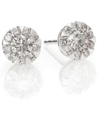 Kwiat - Sunburst Diamond & 18k White Gold Stud Earrings - Lyst