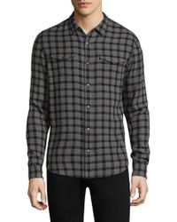 John Varvatos | Checkered Cotton Button-down Shirt | Lyst