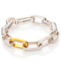 Gurhan - Hoopla 24k Yellow Gold & Sterling Silver Geometric Link Bracelet - Lyst