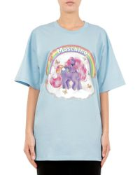 Moschino - Maxi T-shirt In Cotone Little Pony - Lyst