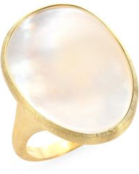 Marco Bicego | Lunaria Mother-of-pearl & 18k Yellow Gold Ring | Lyst
