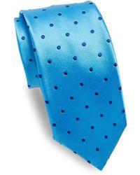 Ike Behar - Blue Dots Silk Tie - Lyst