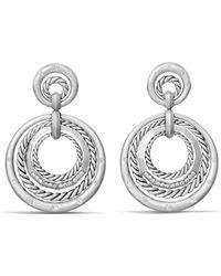David Yurman - Stax Drop Earrings With Diamonds - Lyst