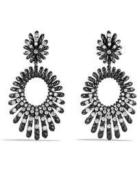 David Yurman | Tempo Double Drop Earrings With Diamonds | Lyst