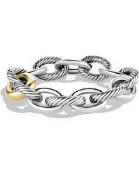 David Yurman | Oval Extra-large Link Bracelet With Gold | Lyst
