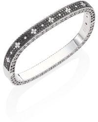 Roberto Coin - Princess Diamond 18k White Gold Bangle Bracelet - Lyst