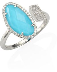 Meira T - Diamond & Turquoise Doublet Ring - Lyst
