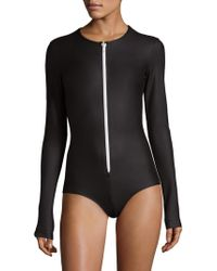 Cover   Long-sleeve Front Zip Swimsuit   Lyst