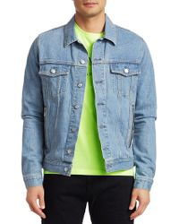 Balmain - Embroidered Denim Jacket - Lyst