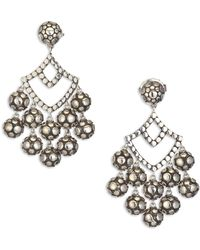 John Hardy - Dot Sterling Silver Chandelier Earrings - Lyst