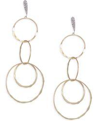 Meira T - Diamond, 14k Yellow & White Gold Drop Earrings - Lyst
