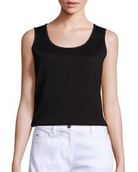 St. John - Caviar Collection Milano Knit Tank - Lyst