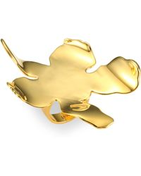 Lele Sadoughi - Rio Golden Lily Ring - Lyst
