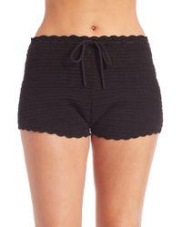 L*Space - Manikini Cotton Shorts - Lyst