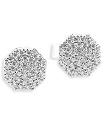 Phillips House - Hero Diamond & 14k White Gold Stud Earrings - Lyst
