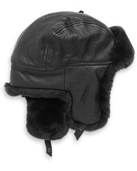 Lyst - Crown Cap Quilted Nylon Aviator Hat With Rabbit Fur in Blue ... 4eb2cb1788c6