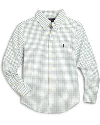 Ralph Lauren - Boy's Tattersall Dress Shirt - Lyst
