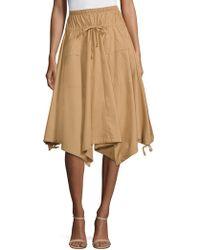 Donna Karan - Trapeze Handkerchief Skirt - Lyst
