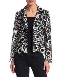 Nanette Lepore - Floral Lace Jacket - Lyst