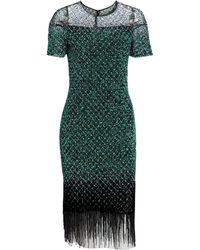36b8f885e76cc Elie Tahari Jade Embellished Velvet Dress in Black - Lyst