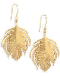 Annette Ferdinandsen - Fauna 14k Yellow Gold Small Peacock Earrings - Lyst