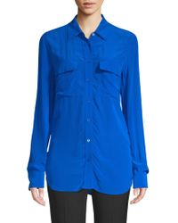 Equipment - Flap Pocket Button-down Blouse - Lyst
