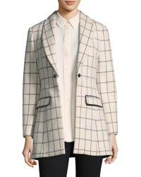 Becken - Windowpane Check Wool Riding Jacket - Lyst