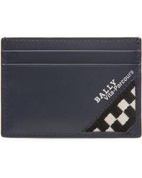 Bally - Men's Bhar Leather Card Case With Racing Check - Lyst