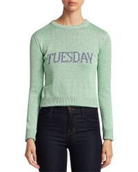 Alberta Ferretti - Women's Rainbow Week Capsule Days Of The Week Tuesday Sweater - Green Multi - Size 42 (6) - Lyst
