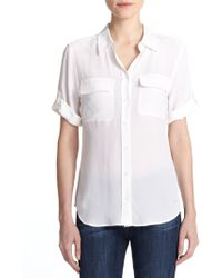 Equipment - Short-sleeve Slim Blouse - Lyst