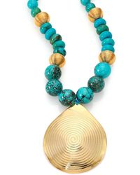 Nest - Turquoise Beaded Pendant Necklace - Lyst