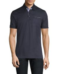Pal Zileri - Short-sleeve Cotton Polo - Lyst