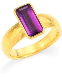 Gurhan - Rainbow One Of A Kind 24k Yellow Gold & Amethyst Ring - Lyst