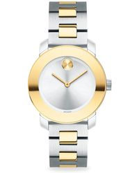 Movado - Bold Iconic Two-tone Bracelet Watch - Lyst