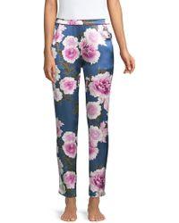 Fleur du Mal - Contrast Back Seam Silk Pajama Pants - Lyst