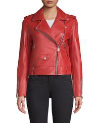 Mackage - Baya Leather Moto Jacket - Lyst