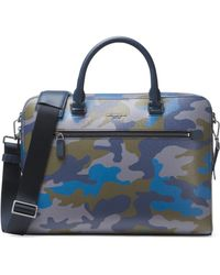 Michael Kors - Camouflage Zip Brief Case - Lyst