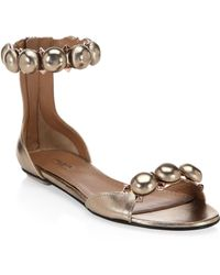 Alaïa - Studded Leather Sandals - Lyst