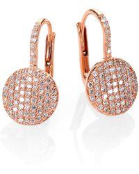 Phillips House - Affair Diamond & 14k Rose Gold Petite Infinity Earrings - Lyst