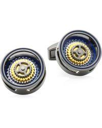 Tateossian - Bullseye Rotating Gears Cufflinks - Lyst