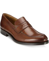 Saks Fifth Avenue - Collection Leather Penny Loafers - Lyst