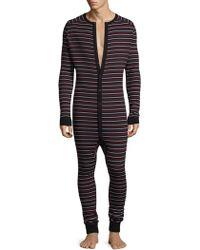 2xist - Stripe Cotton Union Suit - Lyst